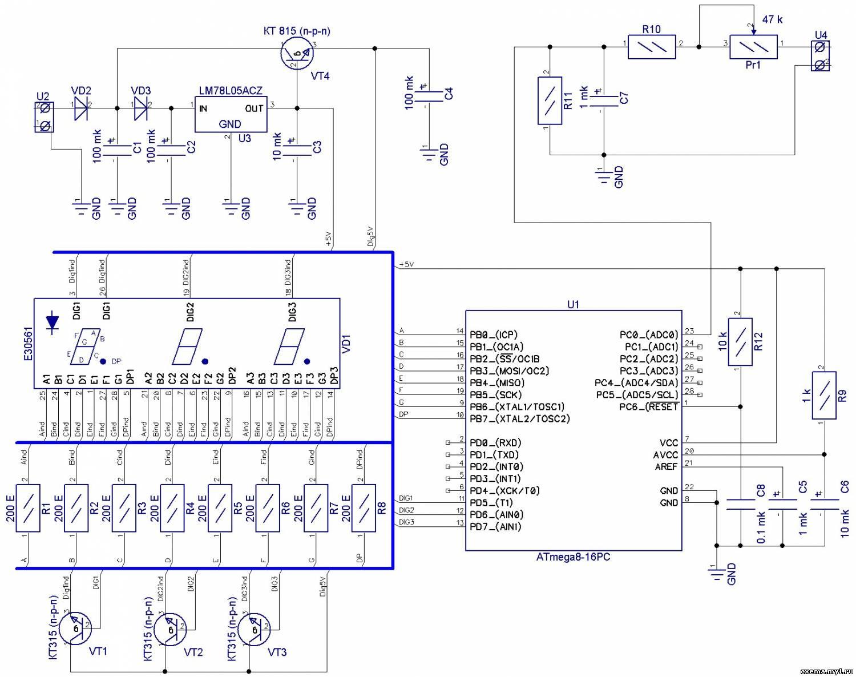 Dt 266 мультиметр схема