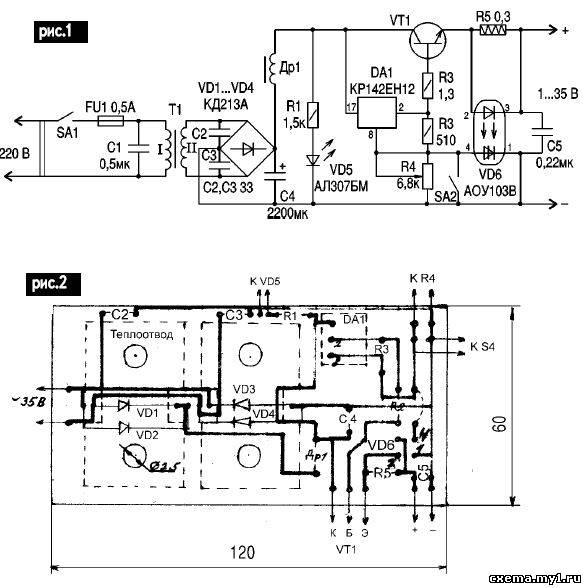 Схема включения аоу115в