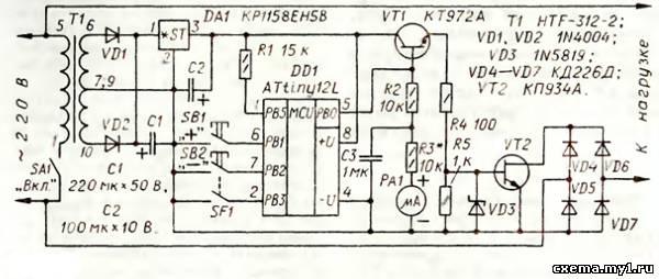 Схема регулятора показана на