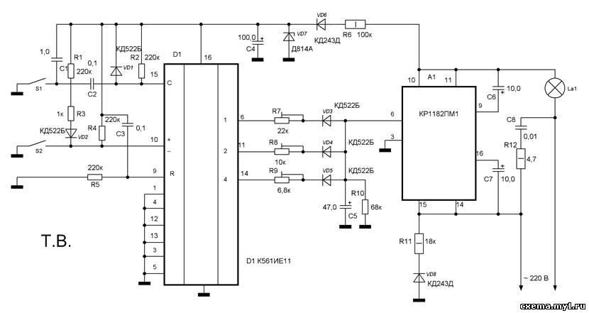 базе микросхемы КР1182ПМ1