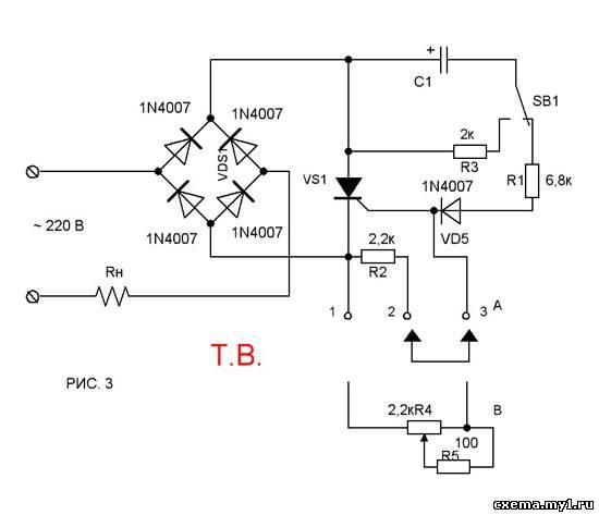 Тиристорное управление в схемах