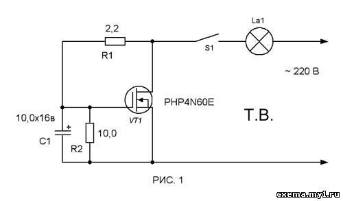 Как продлить срок службы лампы накаливания схема фото 803