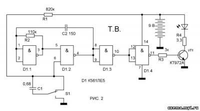 Четырёхступенчатый выключатель с разными вариантами управлени CVAVR AVR CodeVision cvavr.ru