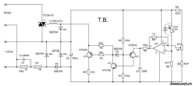 схем терморегуляторов.