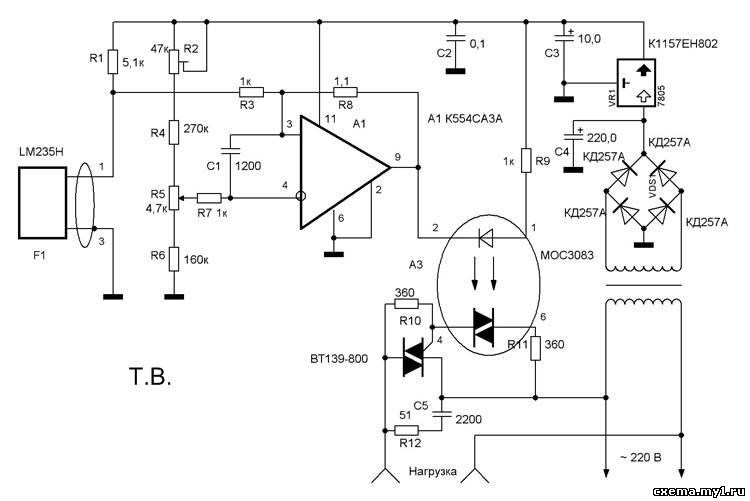 Термостат электрическая схема