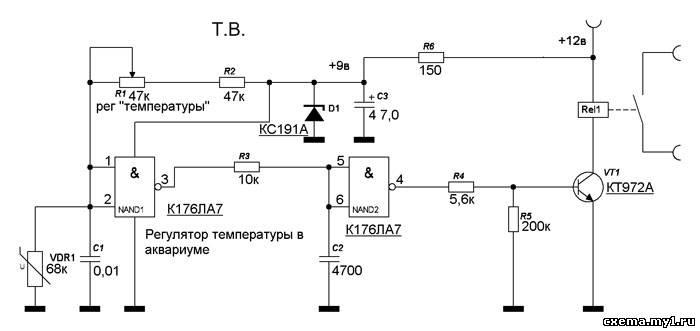 Датчик дистанционное температуры схема