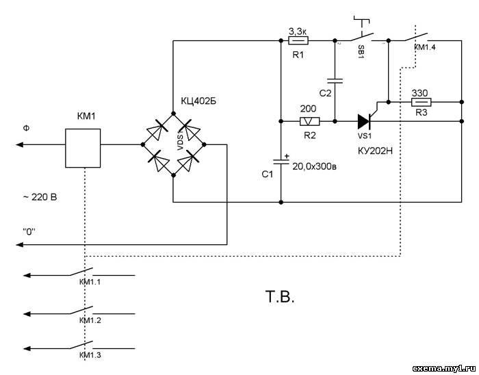 Тиристор VS1 открывается