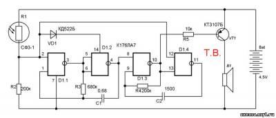 Генератор звуков с оптическим управлением