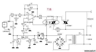 Датчик используется промышленного изготовления, - LM335A2.  Его можно охарактеризовать как стабилитрон...