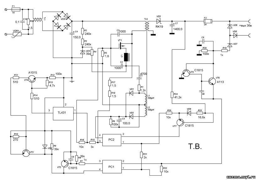 Схема бп для принтера