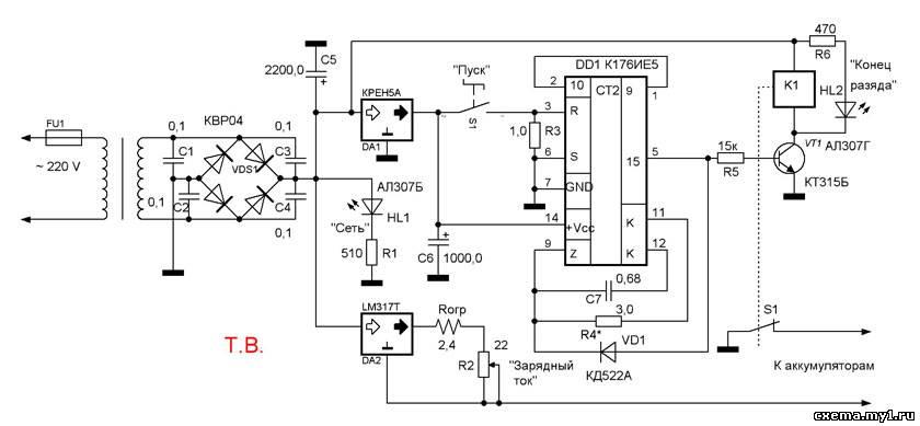 Зарядное устройство для автомобильного аккумулятора - ток заряда 10А с...