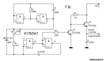 Автоматическая регулировка яркости люминесцентных индикаторов