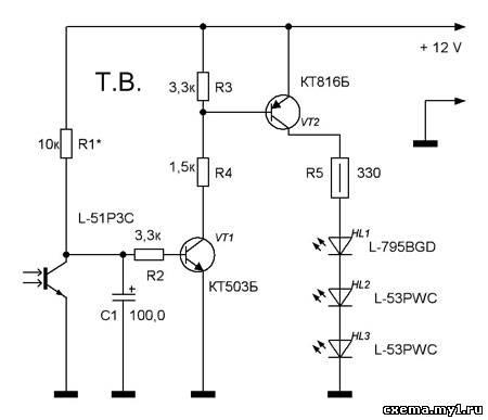 Роль светового датчика
