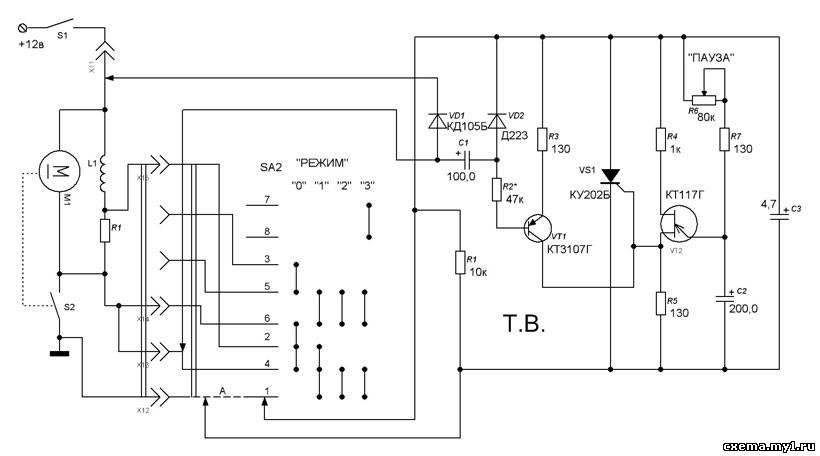 Схема реле стеклоочистителя с регулируемой паузой своими руками 94