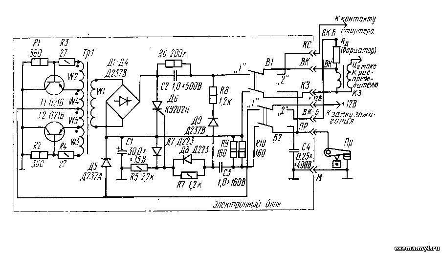 схема конденсатор-нон