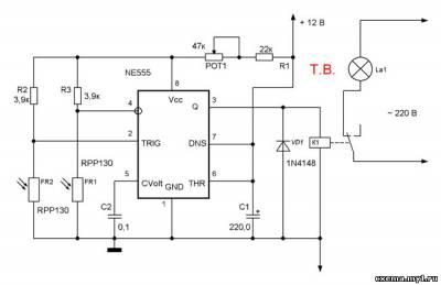 Автоматическое включение света в гараже CVAVR AVR CodeVision cvavr.ru