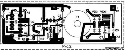 Преобразователь напряжения на К155ЛА18 CVAVR AVR CodeVision cvavr.ru