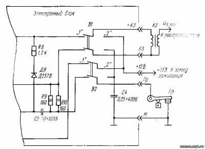 Тиристорная схема зажигания