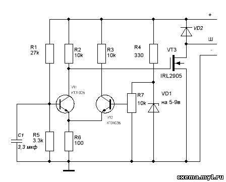 Схема регулятора напряжения ява 6 вольт