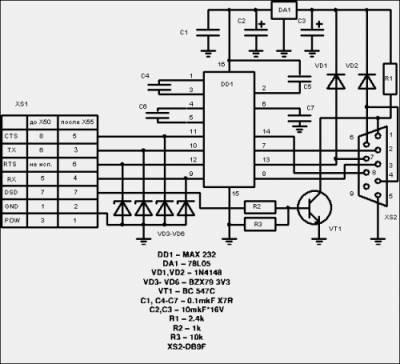 схема data кабеля siemens