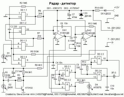 (радар-детектора) [Схема