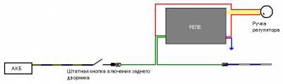 Реле паузы на задний стеклоочиститель CVAVR AVR CodeVision cvavr.ru
