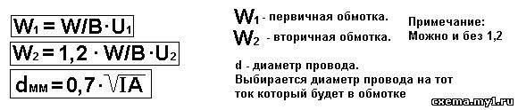 Расчёт силового трансформатора. Как 2+2.