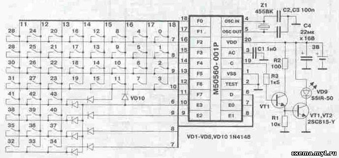 Схемы и описание ПДУ