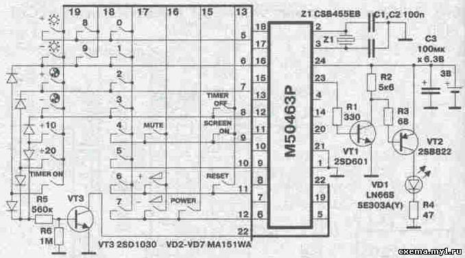 ПДУ JVC модели C-2155EM собран