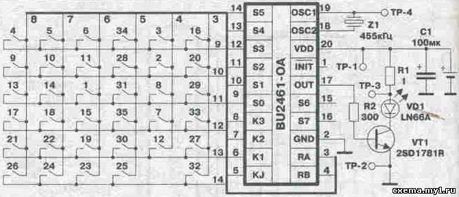Схема пульта JVC.