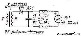 Простой индикатор антенного тока CVAVR AVR CodeVision cvavr.ru