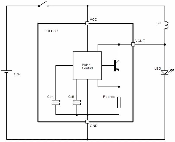 драйвер светодиодов на 1A