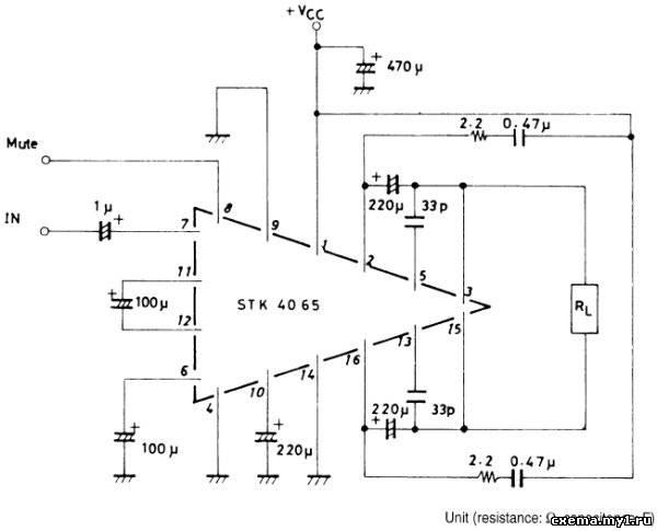 Гибридный УМЗЧ stk4065 производства sanyo CVAVR AVR CodeVision cvavr.ru