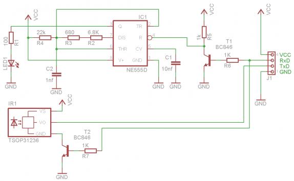 ИК удлинитель uart CVAVR AVR
