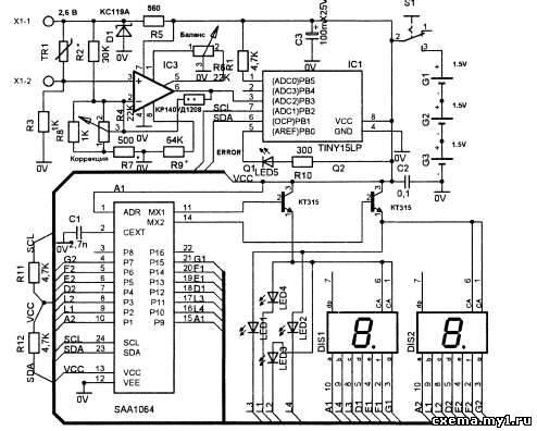 Бытовой цифровой термометр на