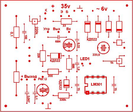 Лабораторный блок питания 1,3-30v 0-5A