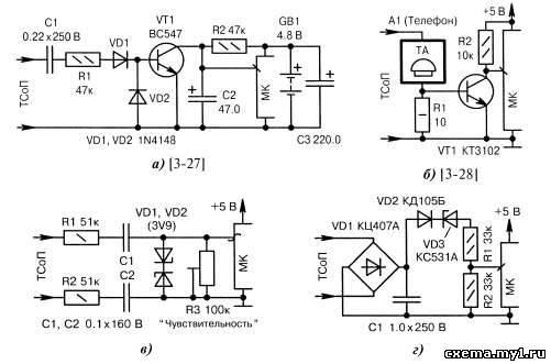 Схемы приёма сигналов ТСоП без