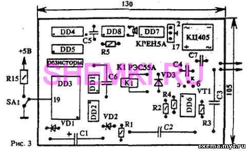 Карта программирования ПЗУ представляет собой коэффициенты деления для программируемых делителей частоты...