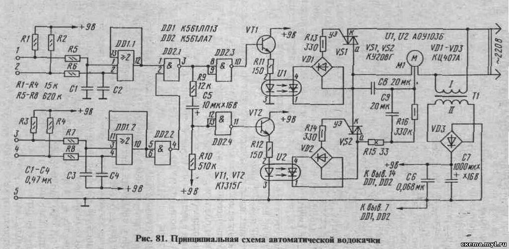 К контактам XI - Х5 подключены