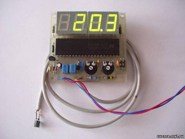 простой термометр со светодиодным дисплеем на icl7107 2ZV.ru