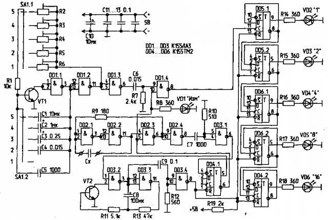 Измеритель емкости-2 CVAVR AVR CodeVision cvavr.ru