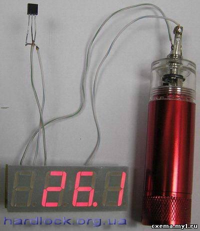 Термометр на ATtiny2313 и DS18B20 (ATtiny2313, С)2