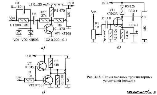 Входные усилители сигналов. Усилители на транзисторах CVAVR AVR CodeVision cvavr.ru