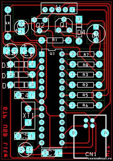 gtp usb lite pic программатор CVAVR CAVR AVR CodeVision cavr.ru