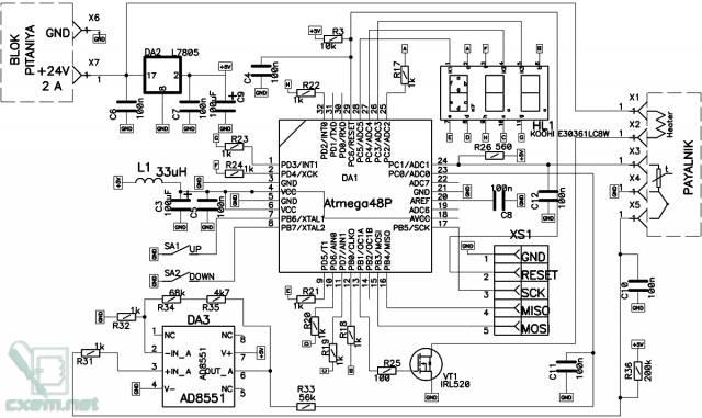 Мини цифровая паяльная станция с поддержкой термопарных и терморезисторных паяльников