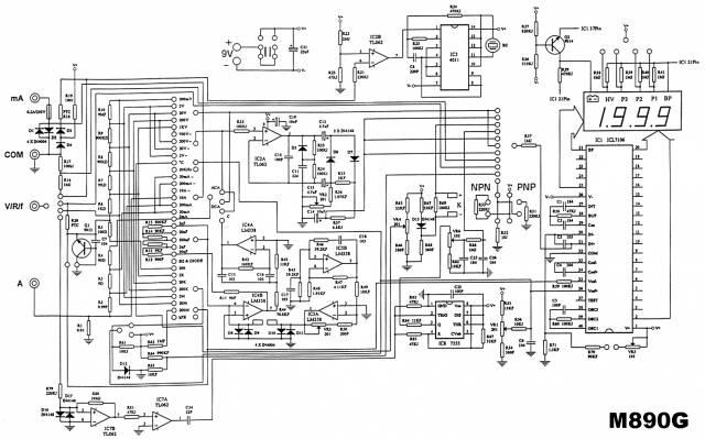 схема мультиметра m890g