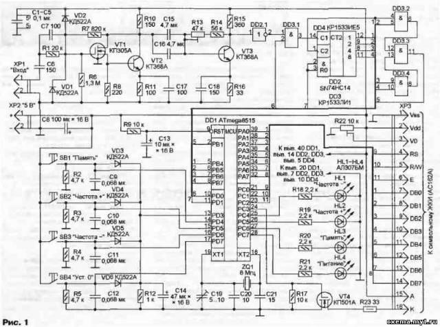Частотомер с ЖК индикатором