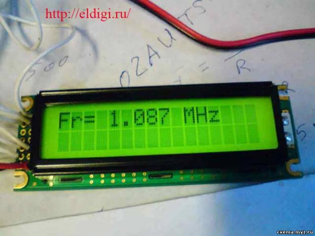 Частотомер на pic контроллере с lcd дисплеем CVAVR AVR CodeVision cvavr.ru