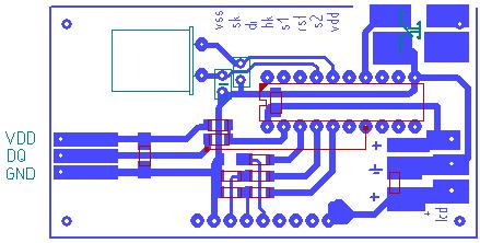Простой термометр на ds18b20 (attiny2313, c)