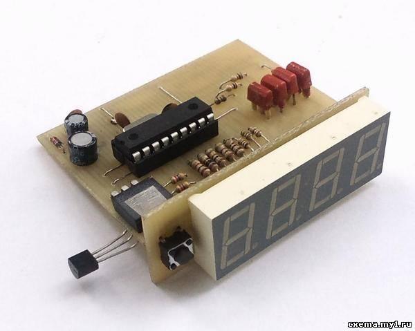 Термометр с десятыми градуса на PIC16F628A